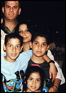 The Anter family: Rahamim, Ora, Noy, Dvir, and Adva (family photo)