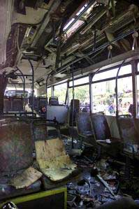 The No. 20 bus after the explosion
